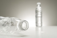 Neck of an empty plastic water bottle Royalty Free Stock Photo