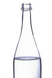 Neck of a glass bottle with water Stock Photo