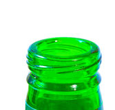 Neck of green bottle Stock Photos