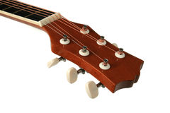 Neck Guitar. Tuning your guitar.Clipping path Stock Images