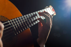 Neck of the guitar Stock Image
