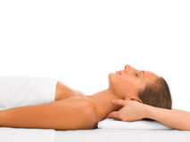 Neck massage Stock Images
