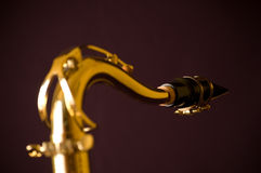 Neck of my saxophone. The top arc of the B-tenor saxophone Royalty Free Stock Images