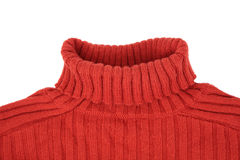 Neck Of Red Sweater Royalty Free Stock Photos