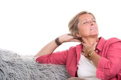 Neck in pain Royalty Free Stock Image