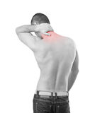 Neck pain Royalty Free Stock Photography