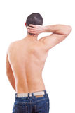 Neck pain Stock Image