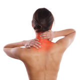Neck pain Stock Images