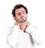 Neck pain Royalty Free Stock Photos