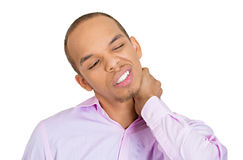 Neck pain and strain Stock Photos
