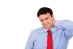 Neck pain, stress Stock Photo