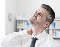 Neck pain symptoms Stock Photography