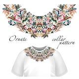 Neck print vector floral design. Fashion white lace collar. illustration vector illustration