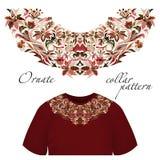 Neck print vector floral design. Fashion white lace collar.  illustration Stock Photos