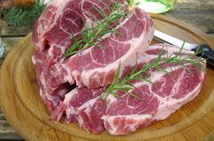 Neck with rosemary and basil Stock Photos