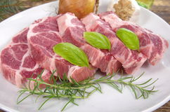 Neck with rosemary and basil Stock Image