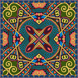 Neck scarf or kerchief square pattern design Stock Photos