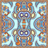 Neck scarf or kerchief square pattern design Stock Images