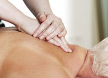 Neck and shoulder massage Royalty Free Stock Photo