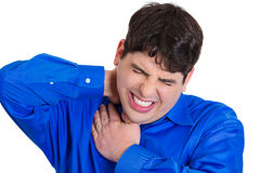 Neck sprain Royalty Free Stock Image