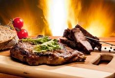 Neck steak Stock Photos
