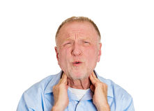 Neck strain Royalty Free Stock Images