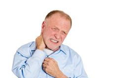 Neck strain and sprain Royalty Free Stock Photos