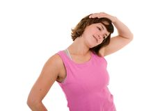 Neck stretch Stock Images