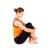 Neck Stretching Stress Relief Exercise stock photos