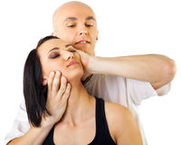Neck thai massage Royalty Free Stock Images