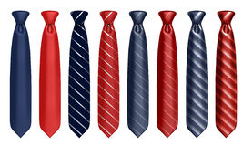 Neck tie set Royalty Free Stock Image