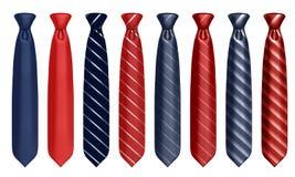 Neck tie set. 3d illustration Royalty Free Stock Image