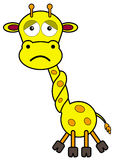Neck tied. An illustration of a giraffe with it's neck tied stock illustration