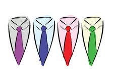 Neck ties. Royalty Free Stock Photos