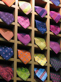 Neck ties. Colorful neck ties in a shop Royalty Free Stock Photography