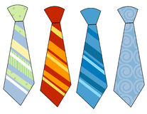 Neck ties. Collection of colorful neck ties vector illustration