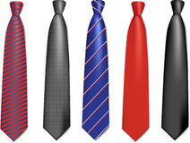 Neck ties collection. Stock Images