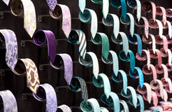 Neck ties collection Royalty Free Stock Images