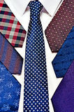 Neck ties in white shirt Stock Photography