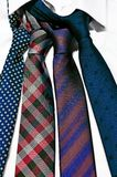 Neck ties in white shirt Stock Photo