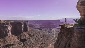The Neck Viewpoint of White Rim Road in Canyonlands National Park Stock Photography