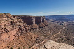 The Neck Viewpoint of White Rim Road in Canyonlands National Park Royalty Free Stock Photo