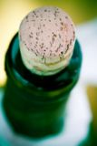 Neck of wine bottle Stock Image
