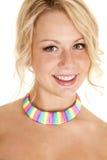 Neck woman rainbow Royalty Free Stock Photo