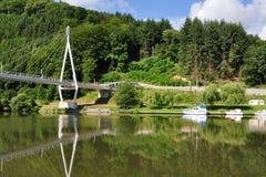 Neckar doliny ne Heilbronn w Niemcy Zdjęcia Royalty Free