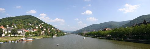 Neckar-Fluss Lizenzfreie Stockfotografie