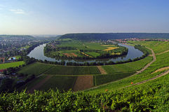 Neckar Meander Royalty Free Stock Photos