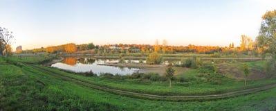 Neckar panorama, Mannheim Stock Images