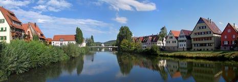 neckar panoramy rottenburg fotografia royalty free