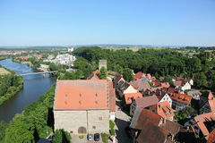 Neckar river and Bad Wimpfen Royalty Free Stock Photos